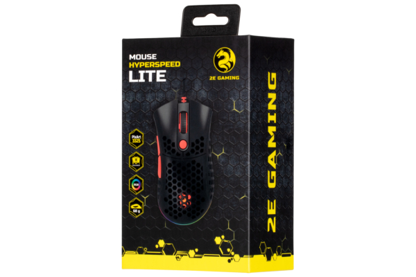 Mouse 2E Gaming HyperSpeed Lite, Black