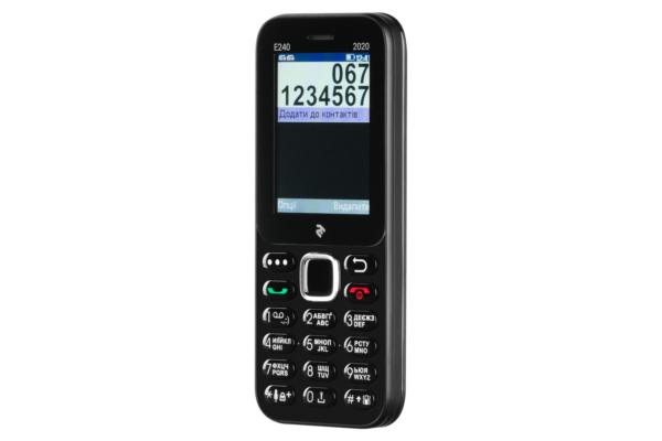 Mobile Phone 2E E240 2020 Dual SIM Black