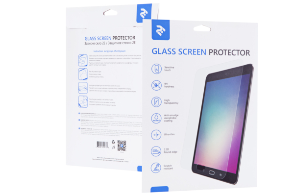 Protective Glass 2E for Apple iPad 10.2″ (2020), 2.5D, Clear