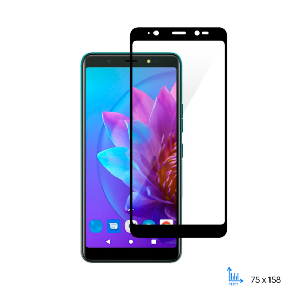 Защитное стекло 2E для TECNO POP 4 (BC2/BC2C), 2.5D FCFG, black border