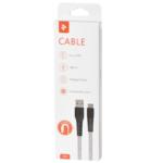 Кабель 2E USB 2.0 MicroUSB Flat Fabric 1m Grey