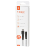 Cable 2E USB 2.0 USB Type-C Flat Fabric 1m Grey