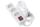 Мережевий фільтр 2Е на 3 розетки з вимикачем 3G1.5, 1.8м, білий