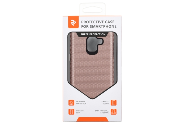 2Е Case for Samsung Galaxy J6 2018 (J600), Triangle, Rose gold