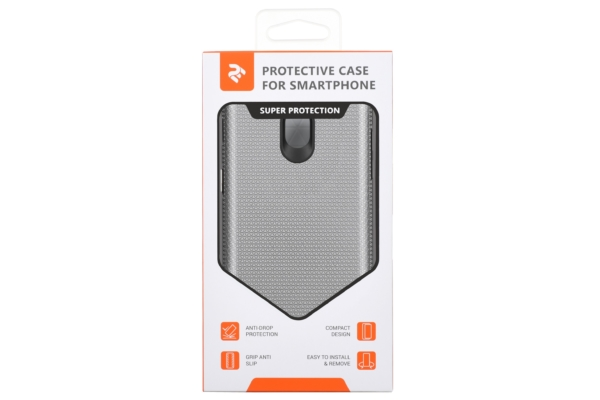2Е Case for Samsung Galaxy J7 2017 (J730), Triangle, Silver