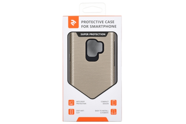 2Е Case for Samsung Galaxy S9 (G960), Triangle, Gold