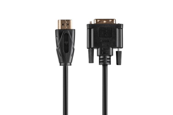 Кабель 2E HDMI TO DVI 24+1, Molding Type, 1.8m Black