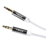 Кабель 2E аудио (jack 3.5мм-M/jack 3.5мм-M), Coiled 1.8м White