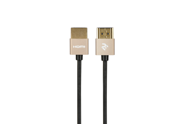 Кабель 2Е HDMI 2.0 Gen 2 Ultra Slim Cable Gold 1m