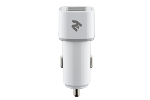 Автомобільний ЗП 2E Dual USB Car Charger 2.4Ax2.4A White