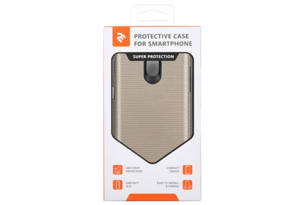 2Е Case for Samsung Galaxy J7 2017 (J730), Triangle, Gold