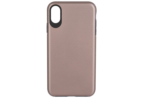 2Е Case for Apple iPhone XS, Triangle, Rose gold
