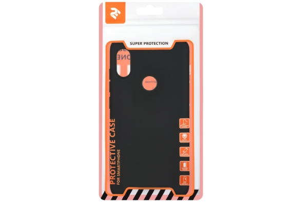 2E Basic Case for Xiaomi Redmi Note 6 Pro, Soft touch, Black