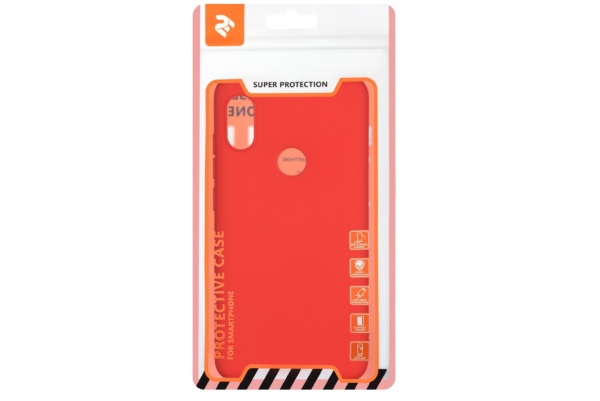2E Basic Case for Xiaomi Redmi Note 6 Pro, Soft touch, Red