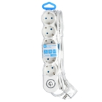 Surge Protector 2E with 5 sockets and a switch 3G1.0, 3m, white