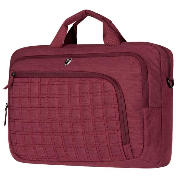 Laptop Bag 2E CBN9198BG, CrossSquares 16″, Burgundy