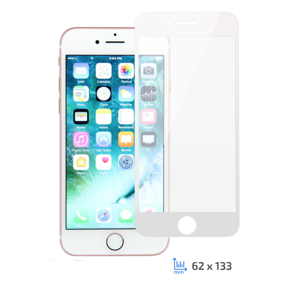 Захисне скло 2E iPhone 7/8, 3D white border FG