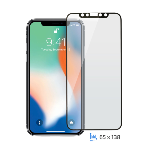Захисне скло 2E iPhone XS/11 Pro, 2.5D black border FG