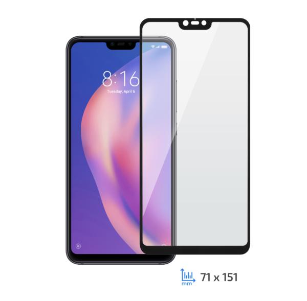 Захисне скло Xiaomi Mi 8 Lite, 2.5D black border FG