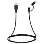 Кабель 2E USB to Micro+Type C