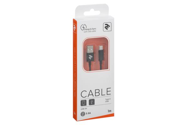 Кабель 2E USB 2.0 to Type C, Molding Type