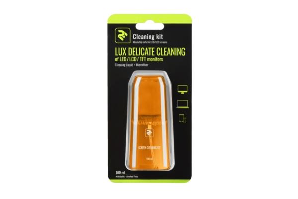 Набір для очищення 2E Lux Yellow – Рідина 100 мл та серветка з мікрофібри 15×15 см