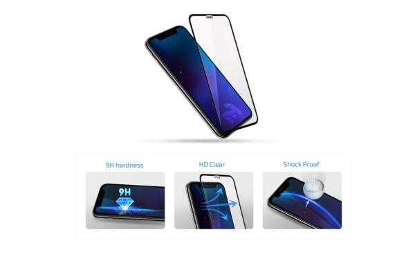Комплект 2 в 1 Захисне скло 2E Basic для Samsung Galaxy M20, FCFG, Black