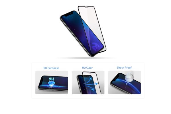 Комплект 2 в 1 Захисне скло 2E Basic для Samsung Galaxy A10/M10, FCFG, Black