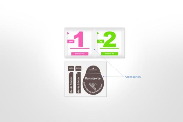 Комплект 2 в 1 Захисне скло 2E Basic для Apple iPhone 7/8, FCFG, Black
