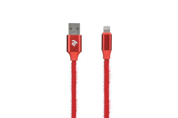 Кабель 2E Fur USB 2.0 to Lightning Cable, 1м, Red