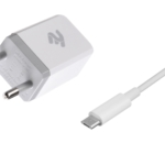Network Charger USB Wall Charger+Cable MicroUSB, White