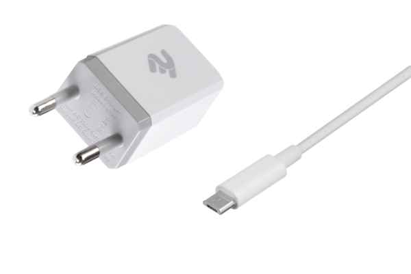 Мережевий ЗП USB Wall Charger+кабель MicroUSB, White
