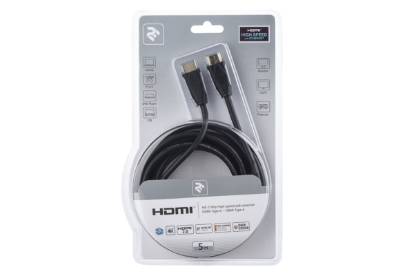 Кабель 2Е HDMI to HDMI, (AM/AM), 5 м