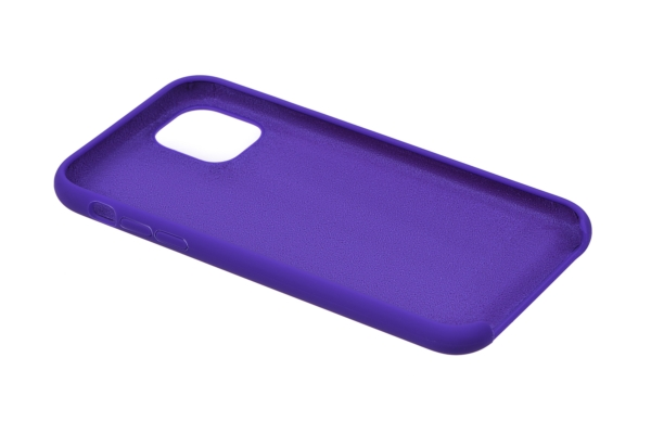 Чохол2ЕдляApple iPhone 11, Liquid Silicone, Dark Purple