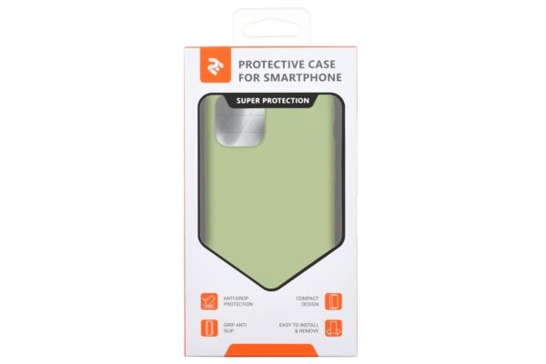 Чохол2ЕдляApple iPhone 11, Liquid Silicone, Light Green