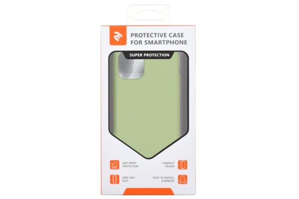 Чохол2ЕдляApple iPhone 11 Pro Max, Liquid Silicone, Light Green