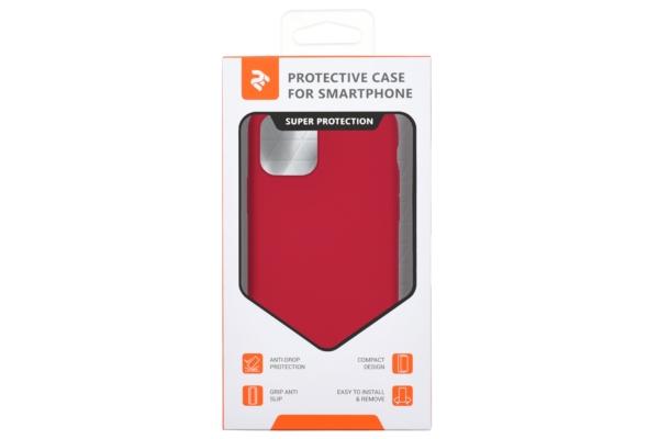 Чохол2ЕдляApple iPhone 11 Pro Max, Liquid Silicone, Red
