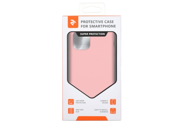 Чохол2ЕдляApple iPhone 11 Pro, Liquid Silicone, Pink
