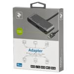 Adapter 2E Type C to 3.0 Female+AUX+HDMI Female+VGA+USB Type C Female, 0.15m