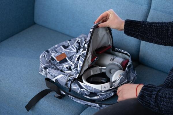 Рюкзак для ноутбука 2E BPT6114GA, TeensPack Absrtraction 13″, Grey