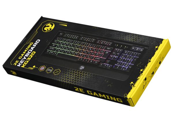 Клавіатура 2E Gaming KG320 LED USB Black