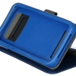 Чохол 2E Eco Leather універсальний для смартфонів з діагоналлю 6-6.5″, Navy