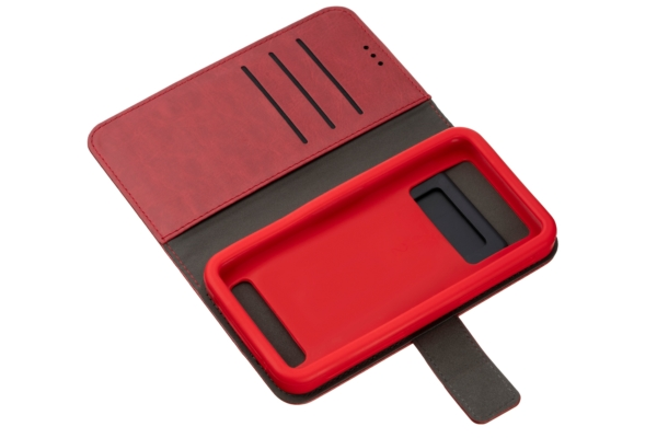 2E Eco Leather Universal Case for smartphones up to 6-6.5″, Red