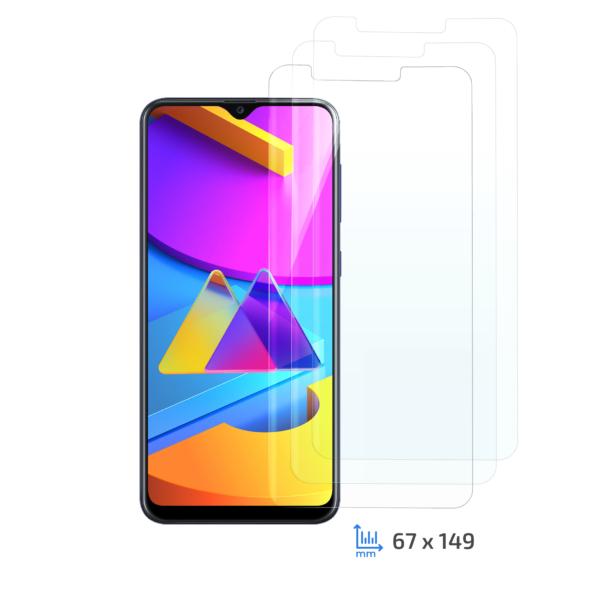 Комплект 3 в 1 захисне скло 2E для Samsung Galaxy M10s, 2.5D, Clear