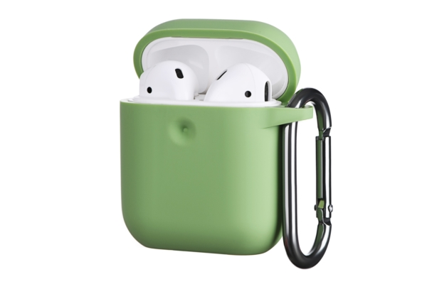 Чохол 2Е для Apple AirPods, Pure Color Silicone (3.0mm), Light green