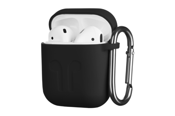 Чохол 2Е для Apple AirPods, Pure Color Silicone Imprint (1.5mm), Black