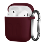 Чохол 2Е для Apple AirPods, Pure Color Silicone Imprint (1.5mm), Marsala