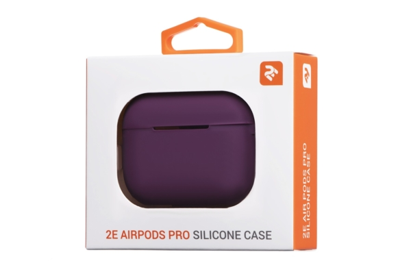 Чохол 2Е для навушників Apple AirPods Pro, Pure Color Silicone (2.5mm), Marsala