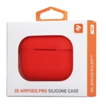 Чохол 2Е для навушників Apple AirPods Pro, Pure Color Silicone (2.5mm), Red