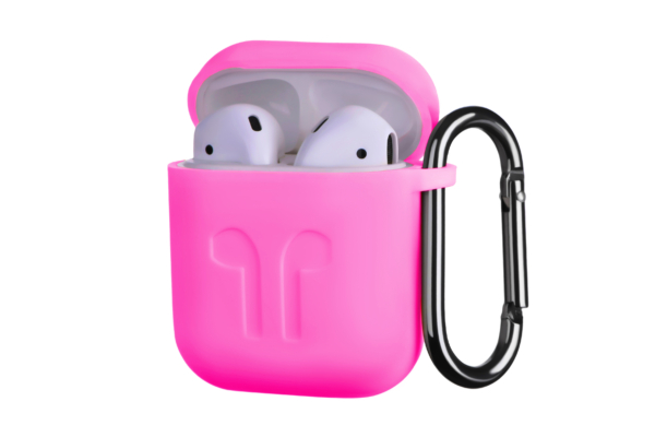 Чохол 2Е для Apple AirPods, Pure Color Silicone Imprint (1.5mm), Fuchsia
